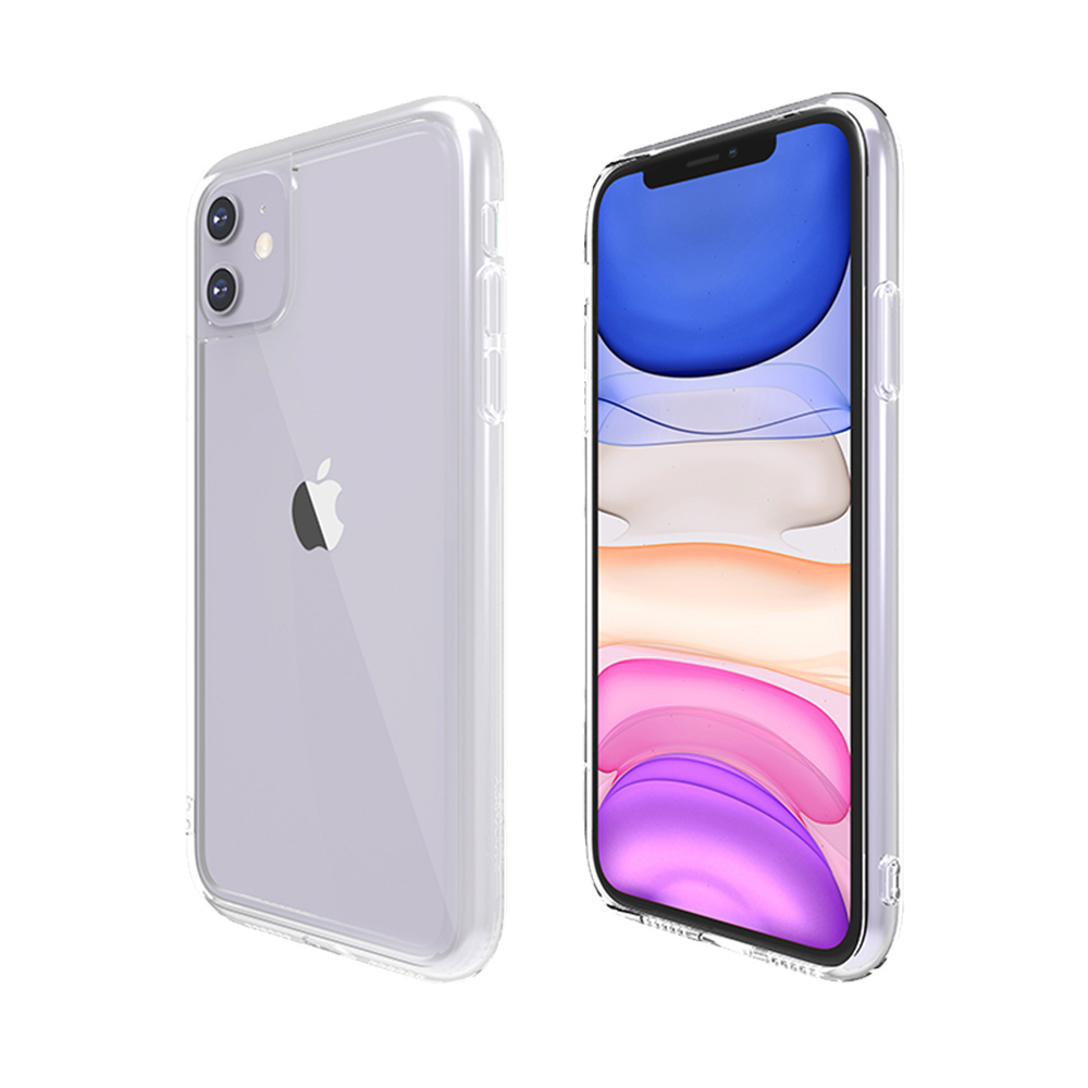 ABSOLUTE|LINKASE AIR iPhone 11 6.1吋專用 軍規防摔大猩猩康寧玻璃抗黃邊框保護殼-極透明