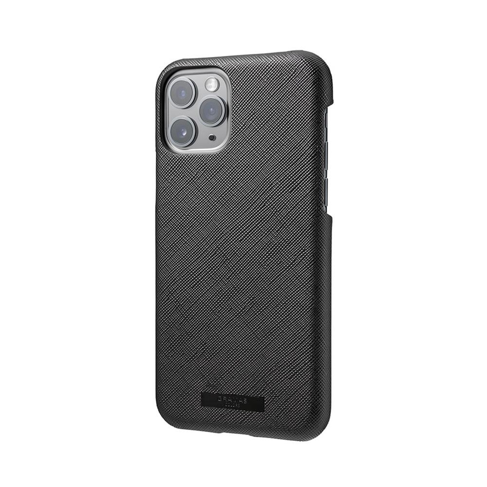 GRAMAS|東京職人工藝iPhone 11 Pro Max (6.5吋)專用 極致輕量背蓋式皮革手機殼-EURO系列(黑)
