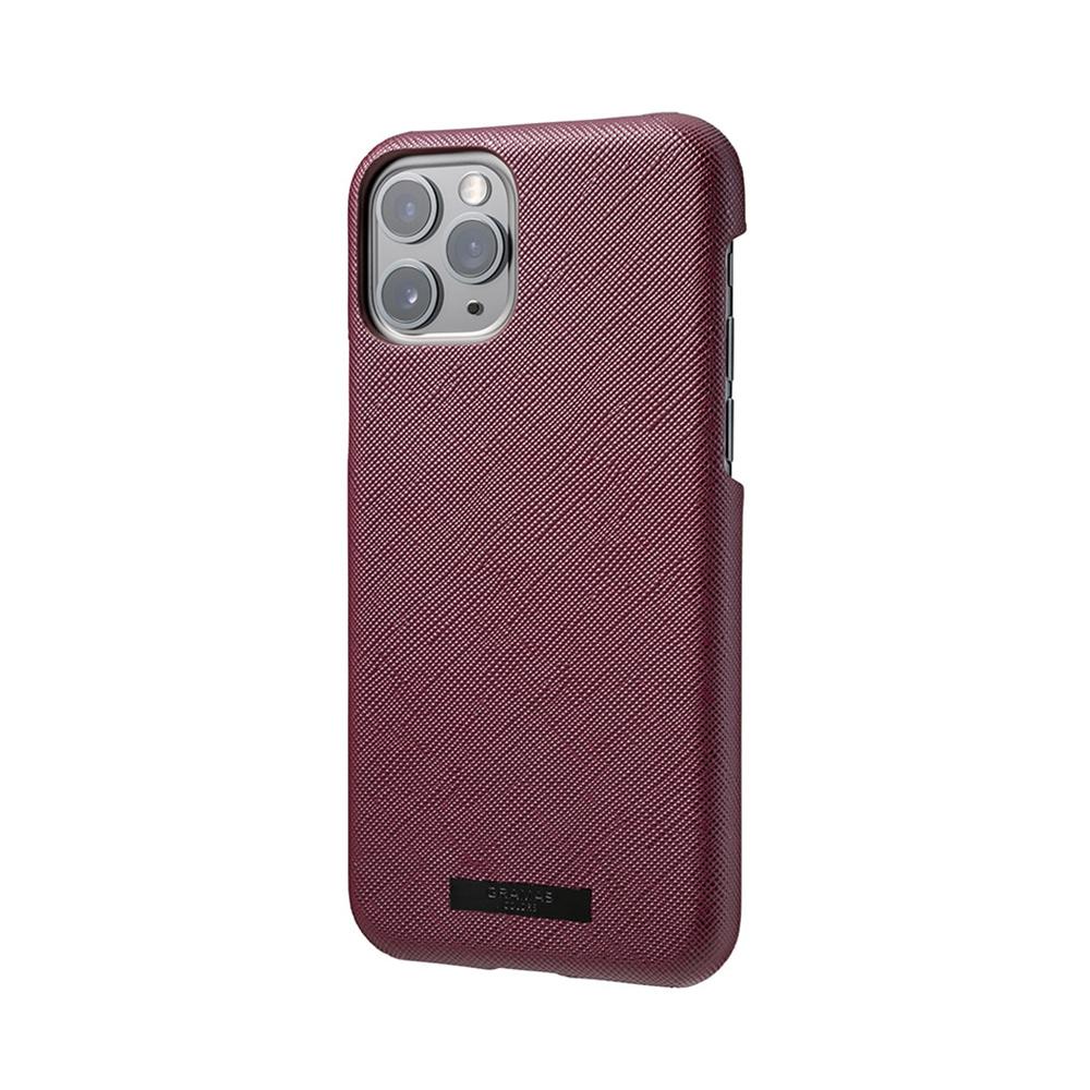 GRAMAS 東京職人工藝iPhone 11 Pro Max (6.5吋)專用 極致輕量背蓋式皮革手機殼-EURO系列(酒紅)