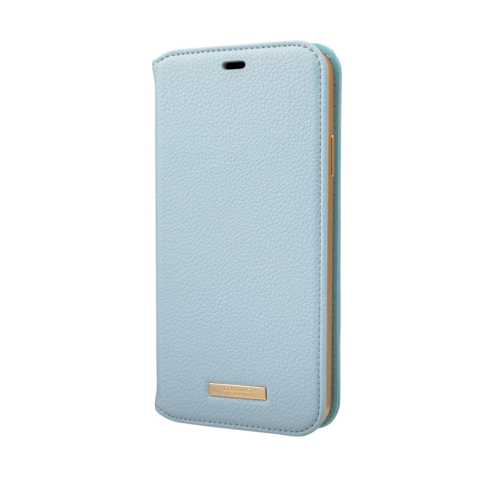 GRAMAS 東京職人工藝iPhone 11 Pro (5.8吋)專用 時尚掀蓋式皮套手機殼-Shrink系列(淺藍)