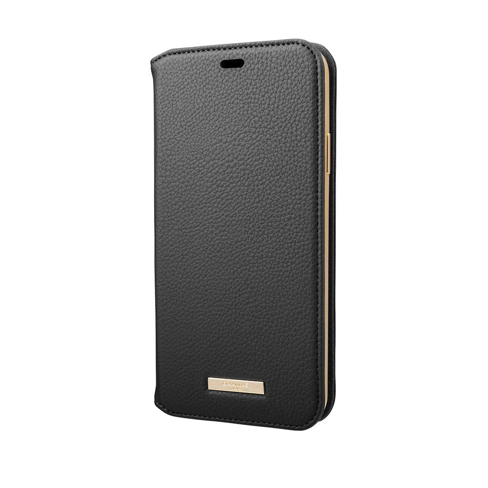 GRAMAS|東京職人工藝iPhone 11 Pro Max (6.5吋)專用 時尚掀蓋式皮套手機殼-Shrink系列(黑)
