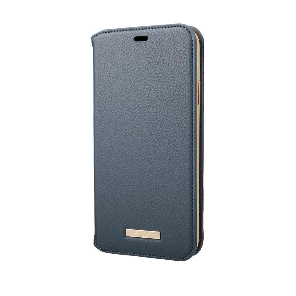 GRAMAS 東京職人工藝iPhone 11 Pro Max (6.5吋)專用 時尚掀蓋式皮套手機殼-Shrink系列(藍)
