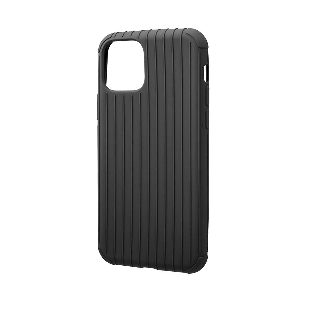 GRAMAS|東京職人工藝iPhone 11 (6.1吋)專用 耐衝擊羽量級行李箱手機殼-Rib Light系列(黑)