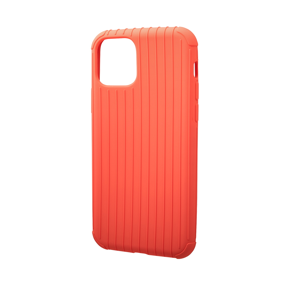 GRAMAS|東京職人工藝iPhone 11 (6.1吋)專用 耐衝擊羽量級行李箱手機殼-Rib Light系列(橘)