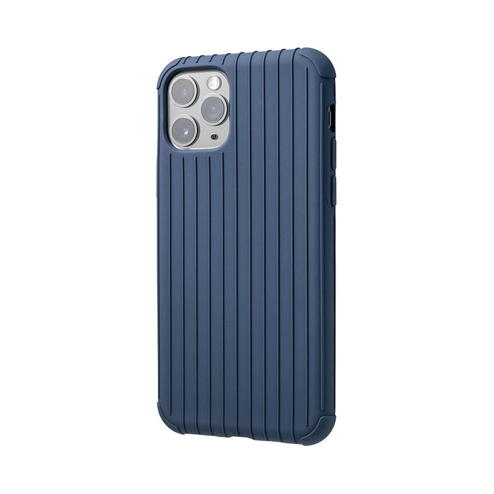 GRAMAS|東京職人工藝iPhone 11 Pro (5.8吋)專用 耐衝擊羽量級行李箱手機殼-Rib Light系列(藍)