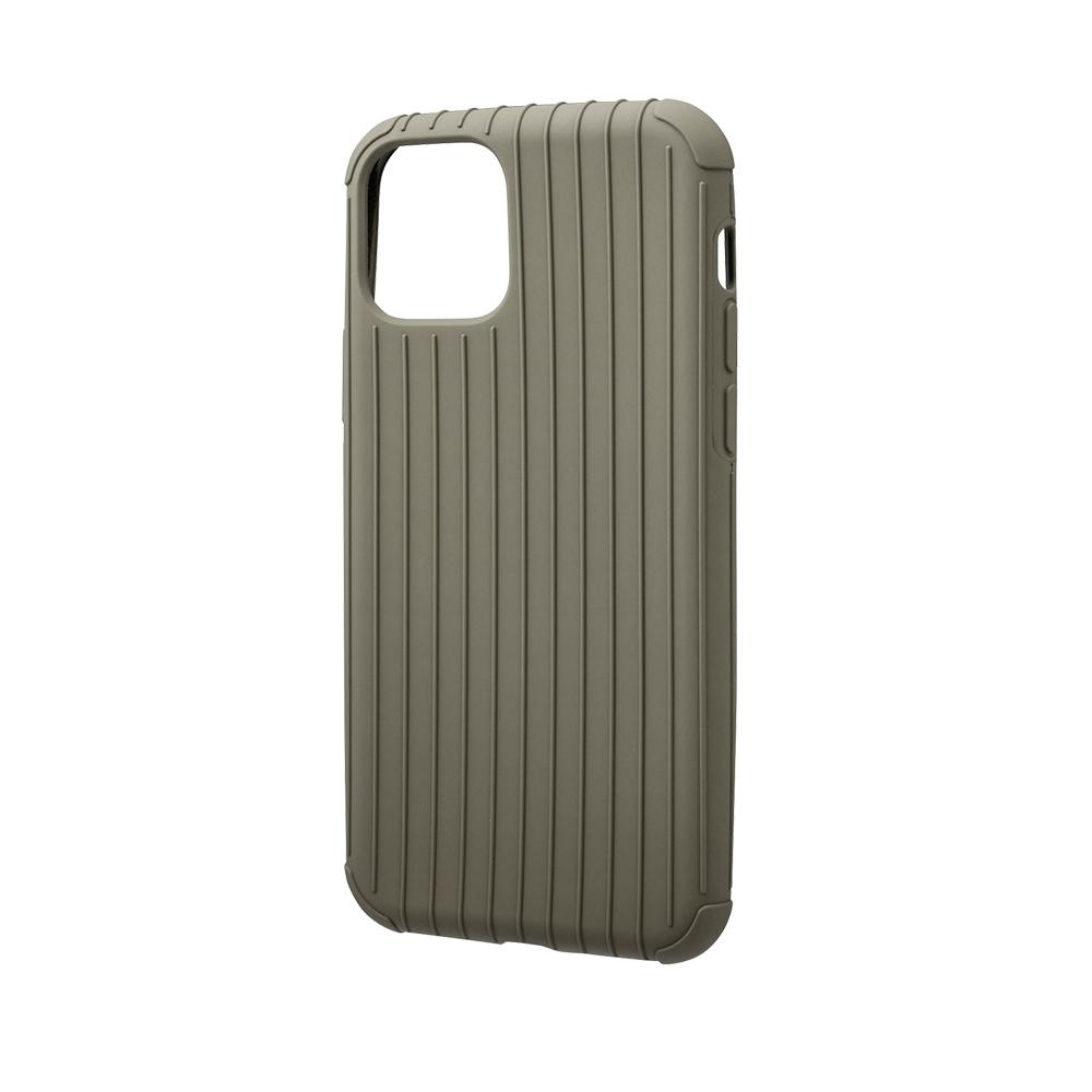 GRAMAS 東京職人工藝iPhone 11 Pro (5.8吋)專用 耐衝擊羽量級行李箱手機殼-Rib Light系列(灰卡其)
