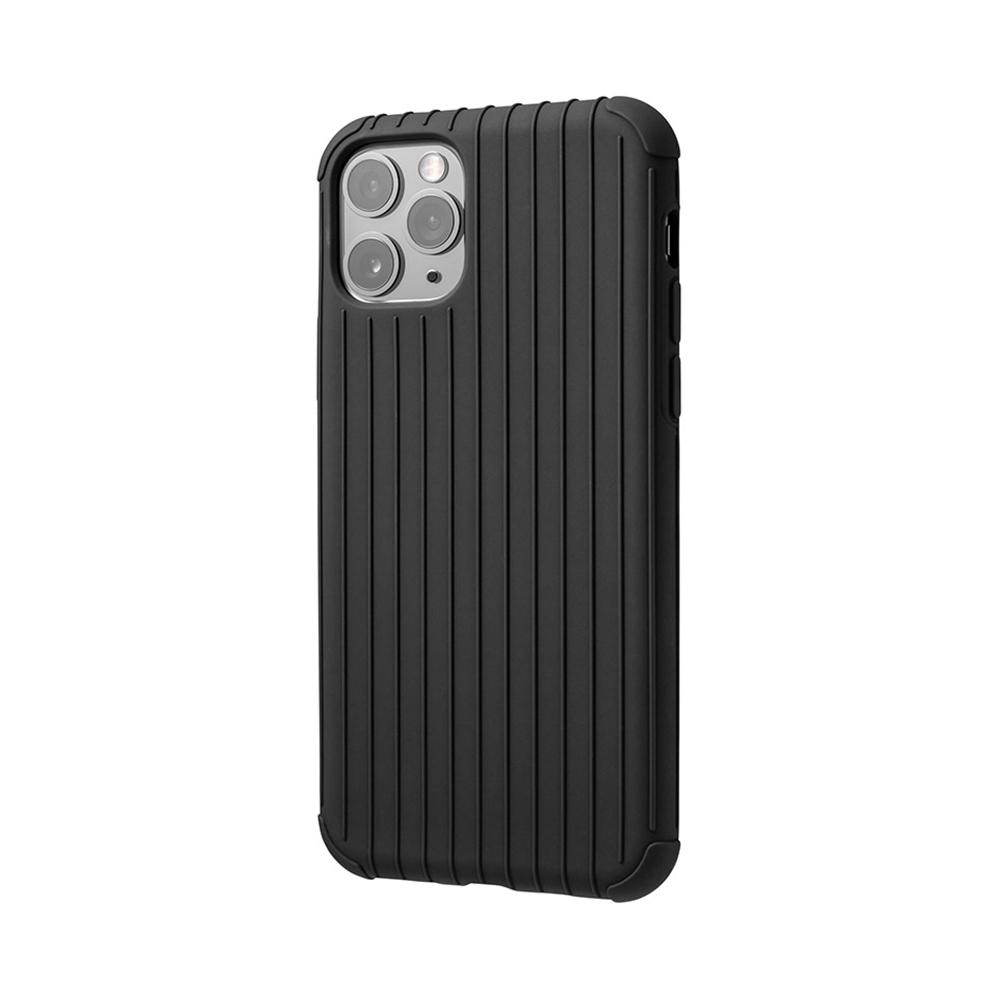 GRAMAS 東京職人工藝iPhone 11 Pro Max (6.5吋)專用 耐衝擊羽量級行李箱手機殼-Rib Light系列(黑)