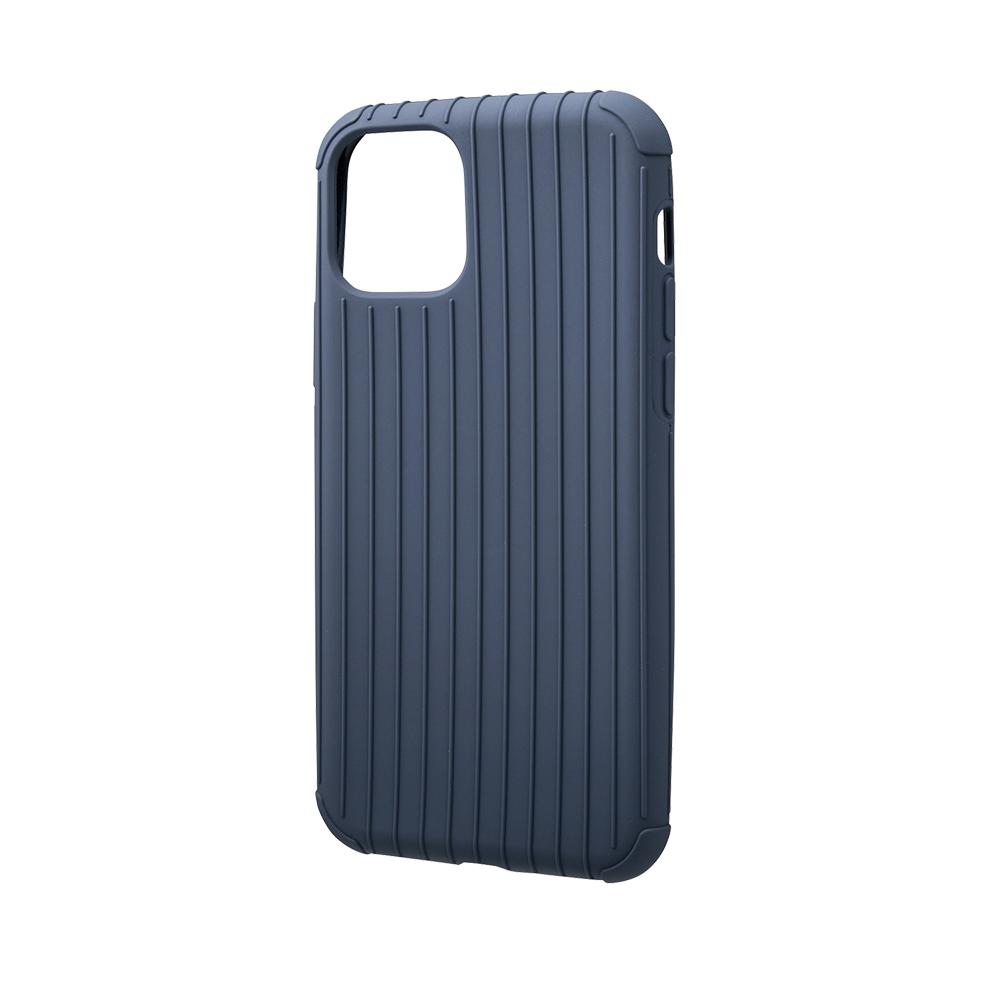 GRAMAS 東京職人工藝iPhone 11 Pro Max (6.5吋)專用 耐衝擊羽量級行李箱手機殼-Rib Light系列(藍)