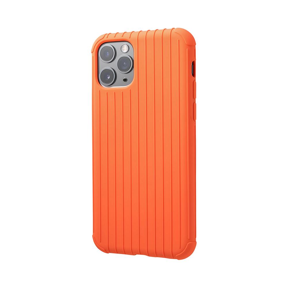 GRAMAS|東京職人工藝iPhone 11 Pro Max (6.5吋)專用 耐衝擊羽量級行李箱手機殼-Rib Light系列(橘)