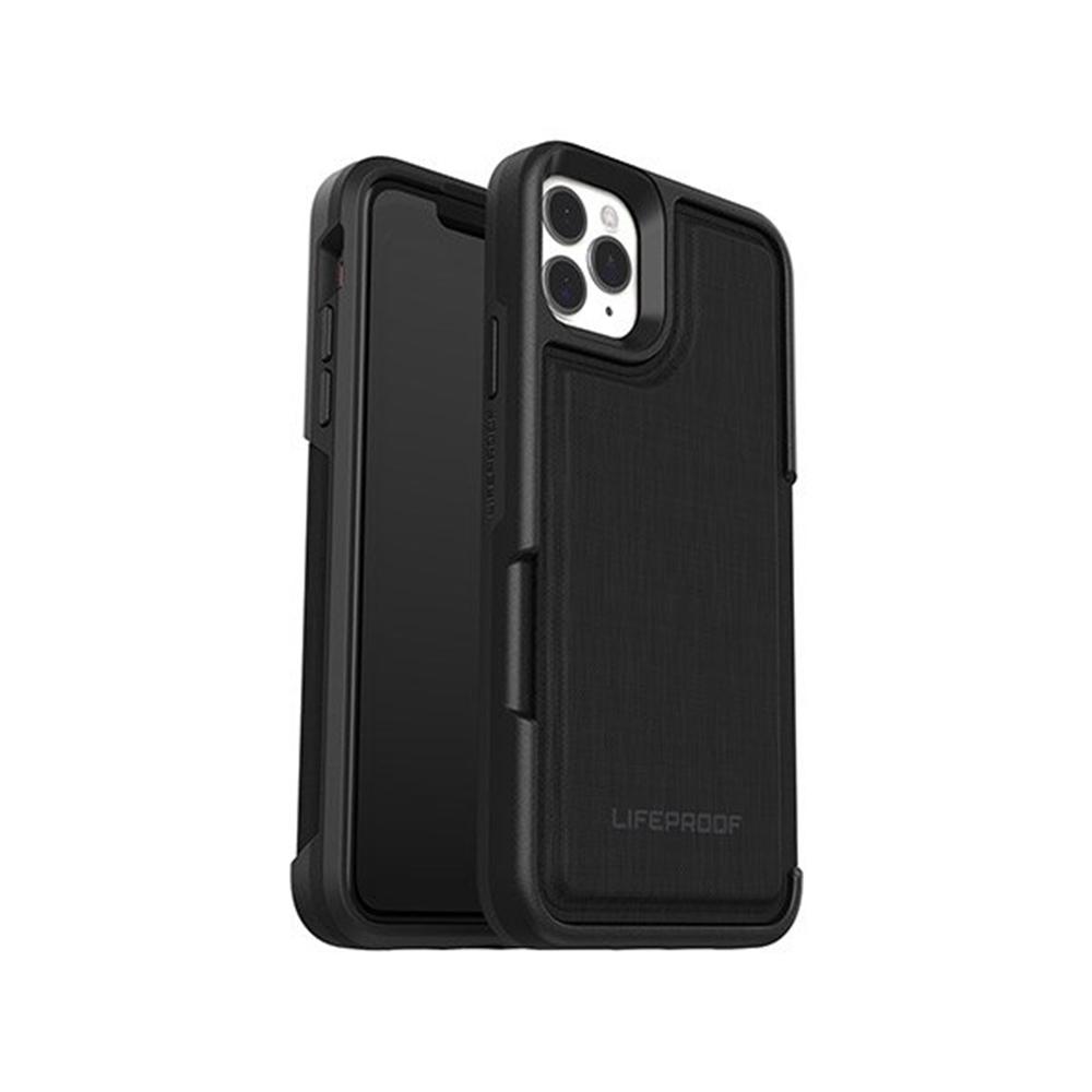 LIFEPROOF|iPhone 11 Pro Max (6.5吋)專用 隱藏收納卡套式防摔手機保護殼-FLiP(黑)