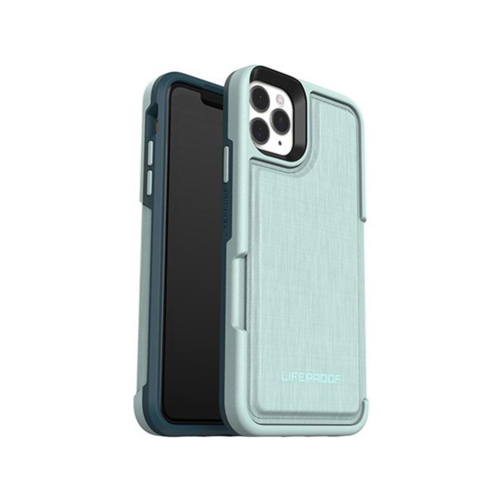 LIFEPROOF|iPhone 11 Pro Max (6.5吋)專用 隱藏收納卡套式防摔手機保護殼-FLiP(淺綠)
