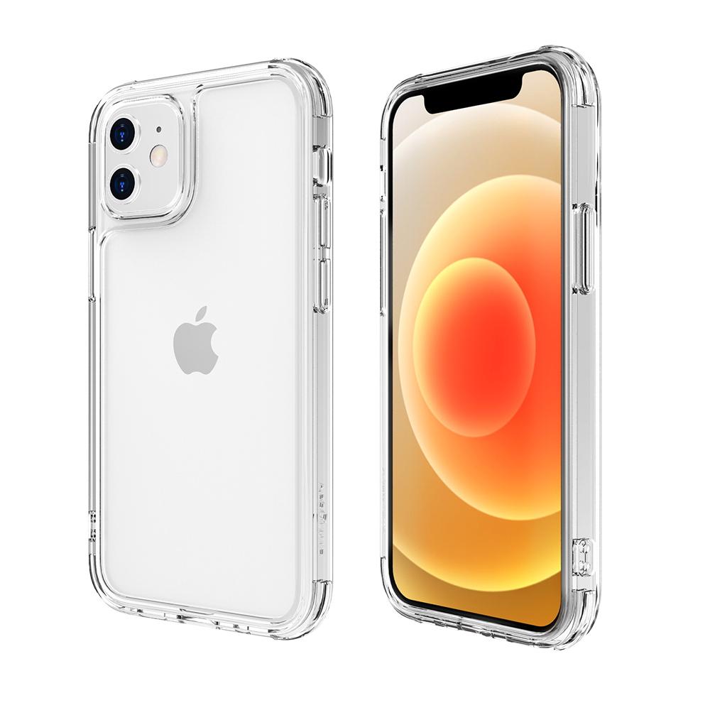 ABSOLUTE LINKASEAIR iPhone 12 mini 5.4吋專用 軍規防摔康寧玻璃ADM專利抗黃保護殼-極透明