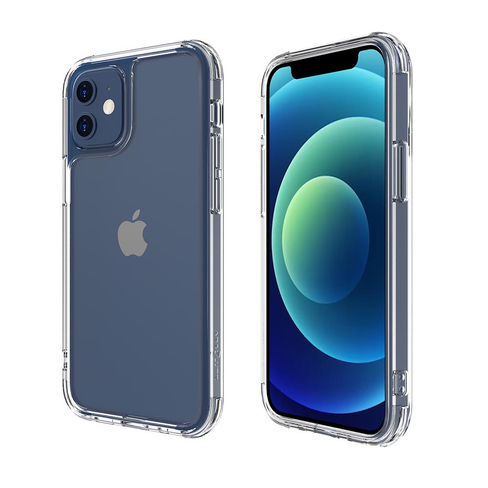 ABSOLUTE|LINKASEAIR iPhone 12/12 Pro (6.1吋)專用 軍規防摔康寧玻璃ADM專利抗黃保護殼-極透明