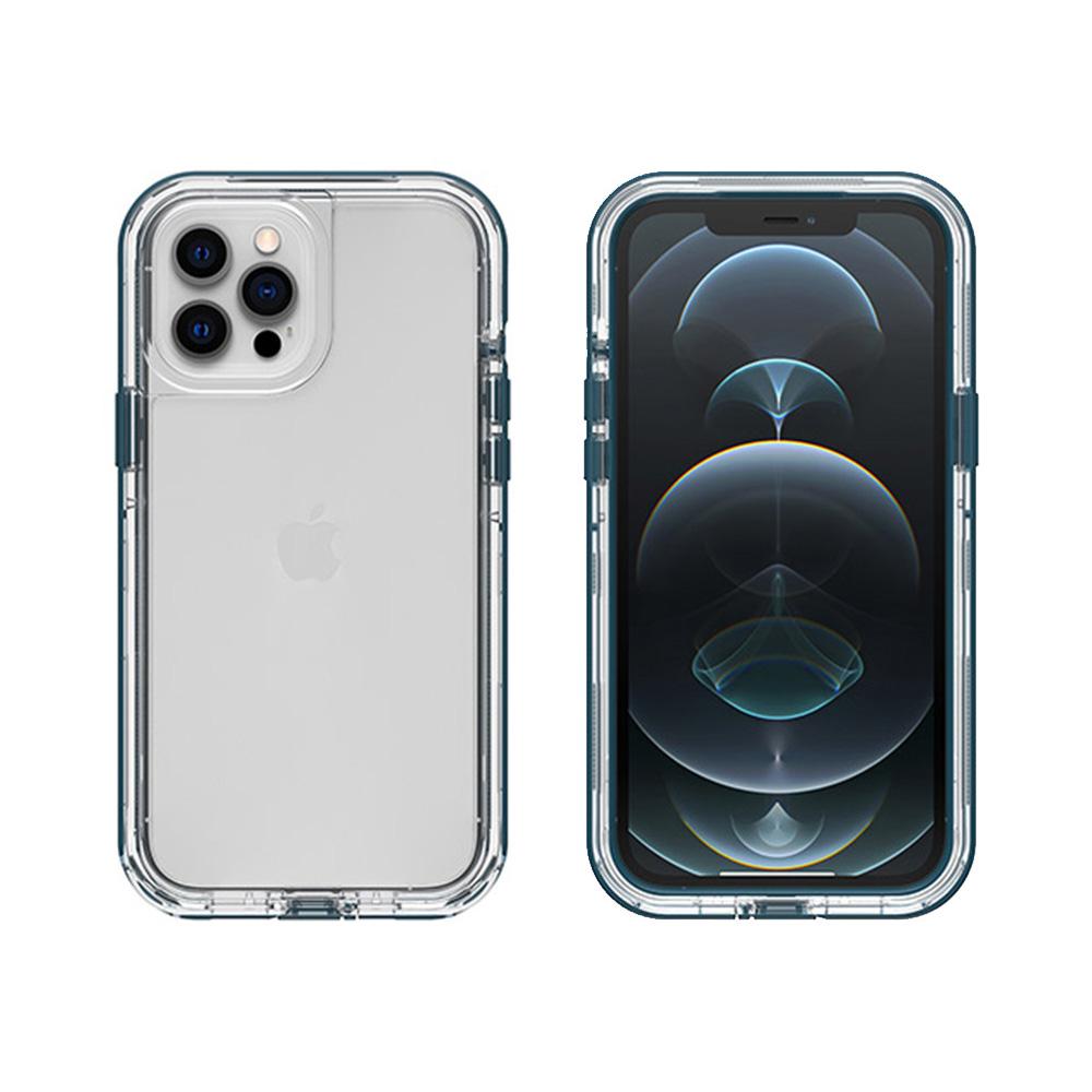 LIFEPROOF|iPhone 12 Pro Max (6.7吋)專用 2米軍規防摔防雪防塵三防保護殼-NEXT(透明/藍)