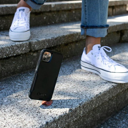OtterBox|iPhone 12/12 Pro (6.1吋)專用 雙層防摔吸震手機保護殼-Commuter通勤者系列-黑