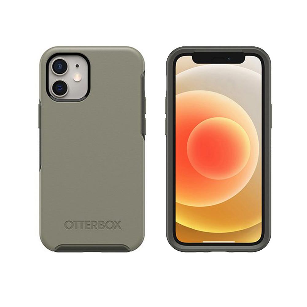 OtterBox|iPhone 12 mini (5.4吋)專用 防摔吸震手機保護殼-Symmetry炫彩幾何系列-灰綠