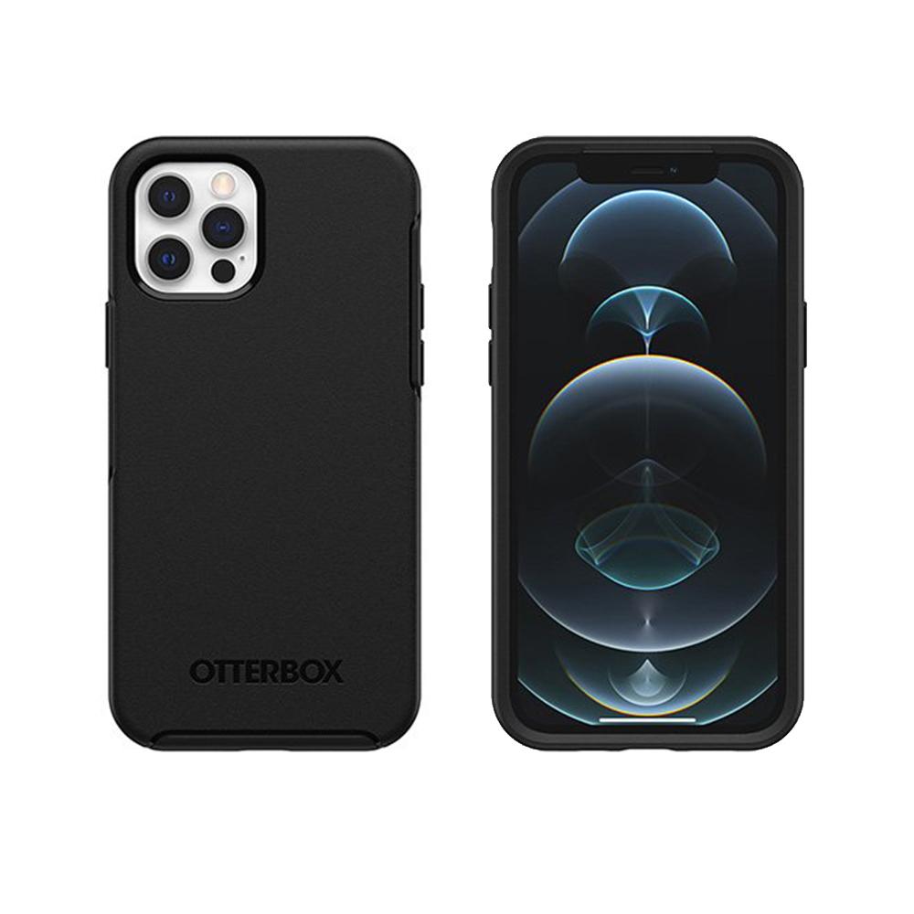 OtterBox|iPhone 12/12 Pro (6.1吋)專用 防摔吸震手機保護殼-Symmetry炫彩幾何系列-黑