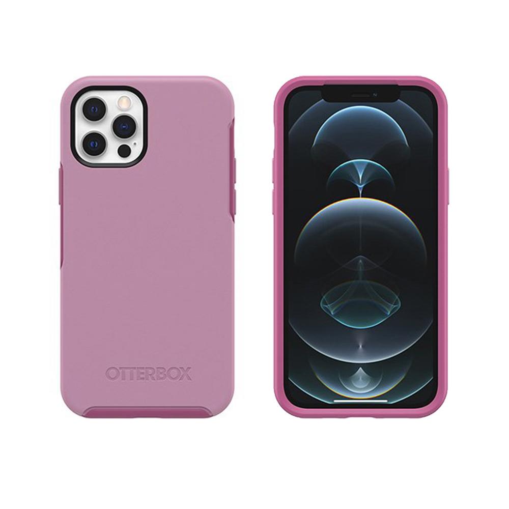 OtterBox|iPhone 12/12 Pro (6.1吋)專用 防摔吸震手機保護殼-Symmetry炫彩幾何系列-粉