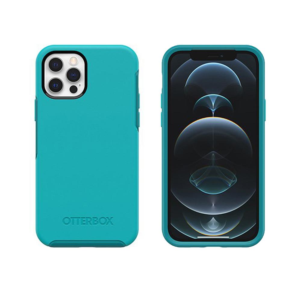 OtterBox|iPhone 12/12 Pro (6.1吋)專用 防摔吸震手機保護殼-Symmetry炫彩幾何系列-水藍