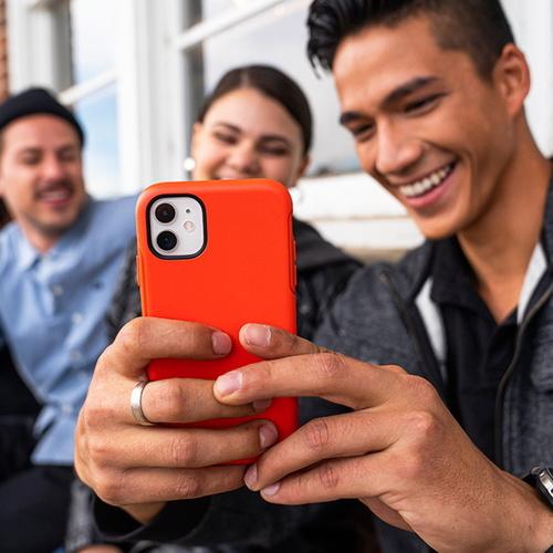 OtterBox|iPhone 12 Pro Max (6.7吋)專用 防摔吸震手機保護殼-Symmetry炫彩幾何系列-灰綠