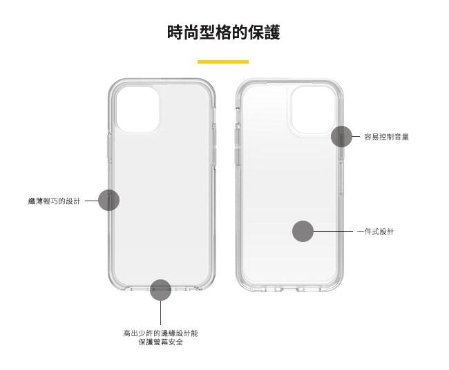 OtterBox|iPhone 12 mini (5.4吋)專用 防摔吸震手機保護殼-Symmetry炫彩透明系列■全淨透