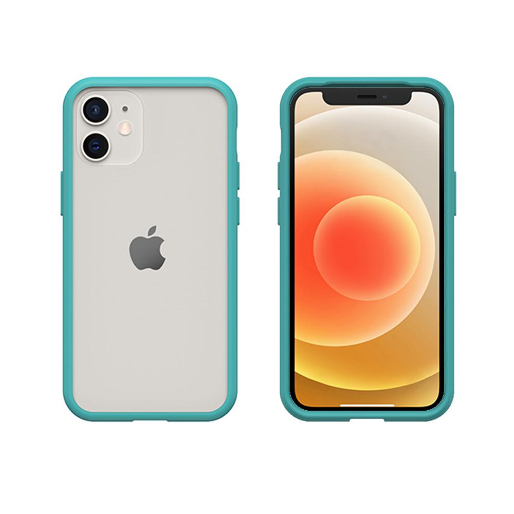 OtterBox iPhone 12 mini (5.4吋)專用 防摔吸震手機保護殼-React簡約輕量透明系列-藍/透明