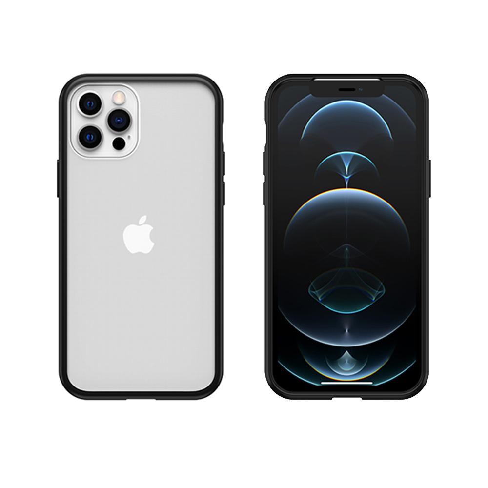 OtterBox iPhone 12/12 Pro (6.1吋)專用 防摔吸震手機保護殼-React簡約輕量透明系列-黑/透明