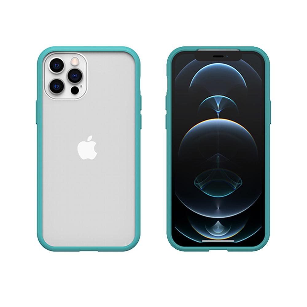 OtterBox|iPhone 12/12 Pro (6.1吋)專用 防摔吸震手機保護殼-React簡約輕量透明系列-藍/透明