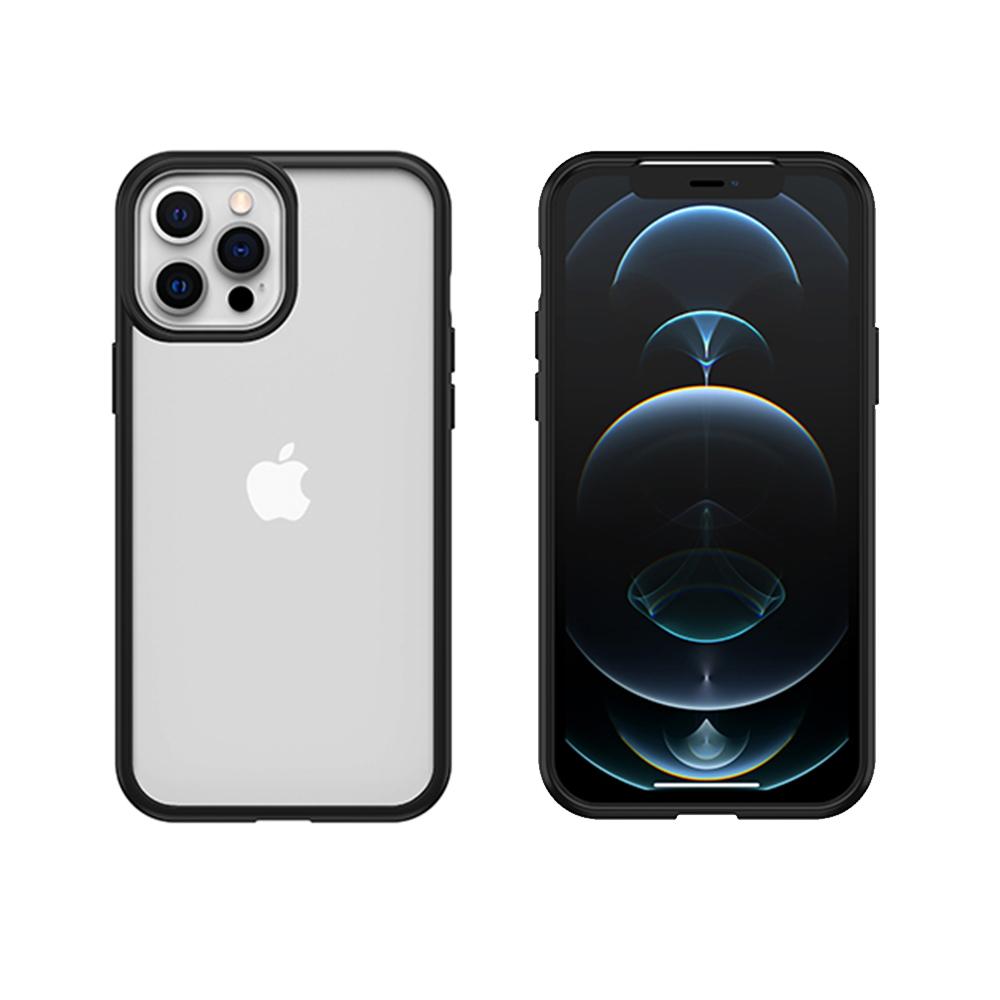 OtterBox|iPhone 12 Pro Max (6.7吋)專用 防摔吸震手機保護殼-React簡約輕量透明系列-黑/透明