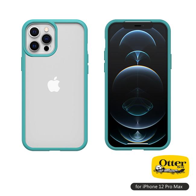(複製)OtterBox iPhone 12 Pro Max (6.7吋)專用 防摔吸震手機保護殼-React簡約輕量透明系列■黑