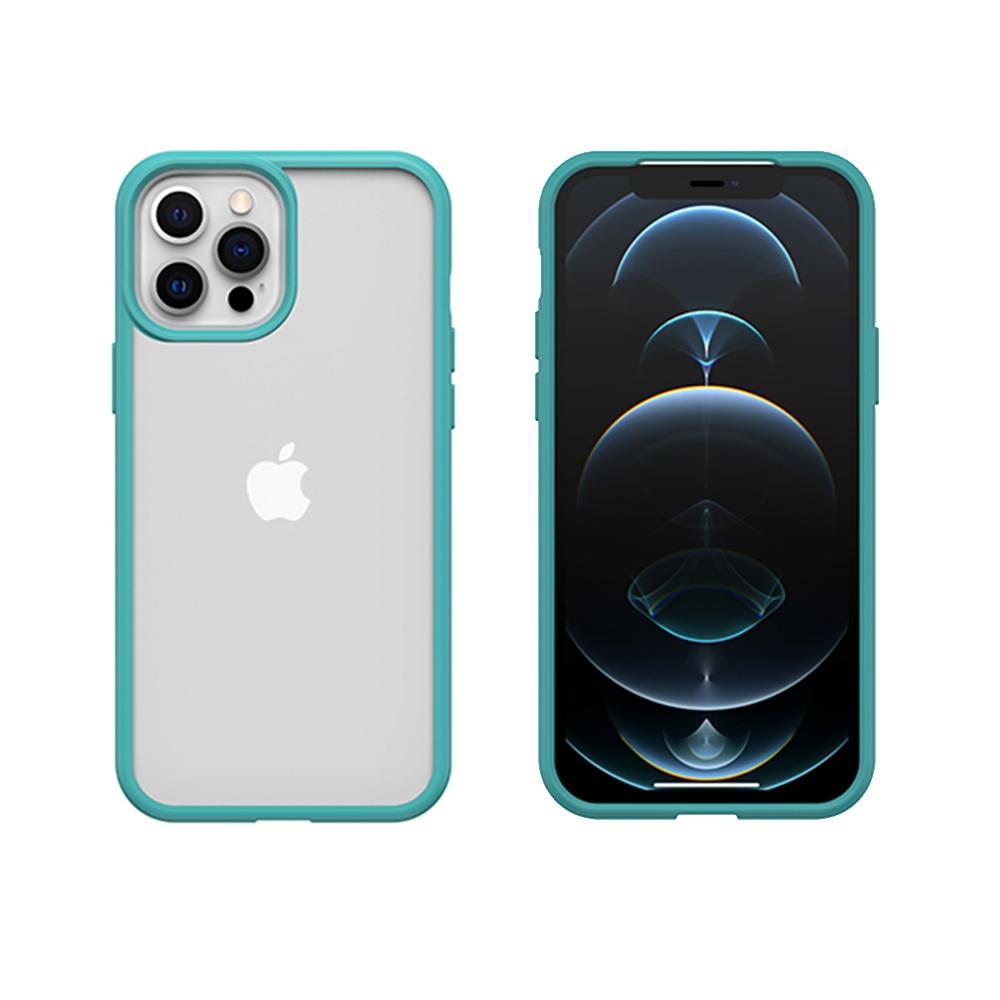 OtterBox iPhone 12 Pro Max (6.7吋)專用 防摔吸震手機保護殼-React簡約輕量透明系列-藍/透明