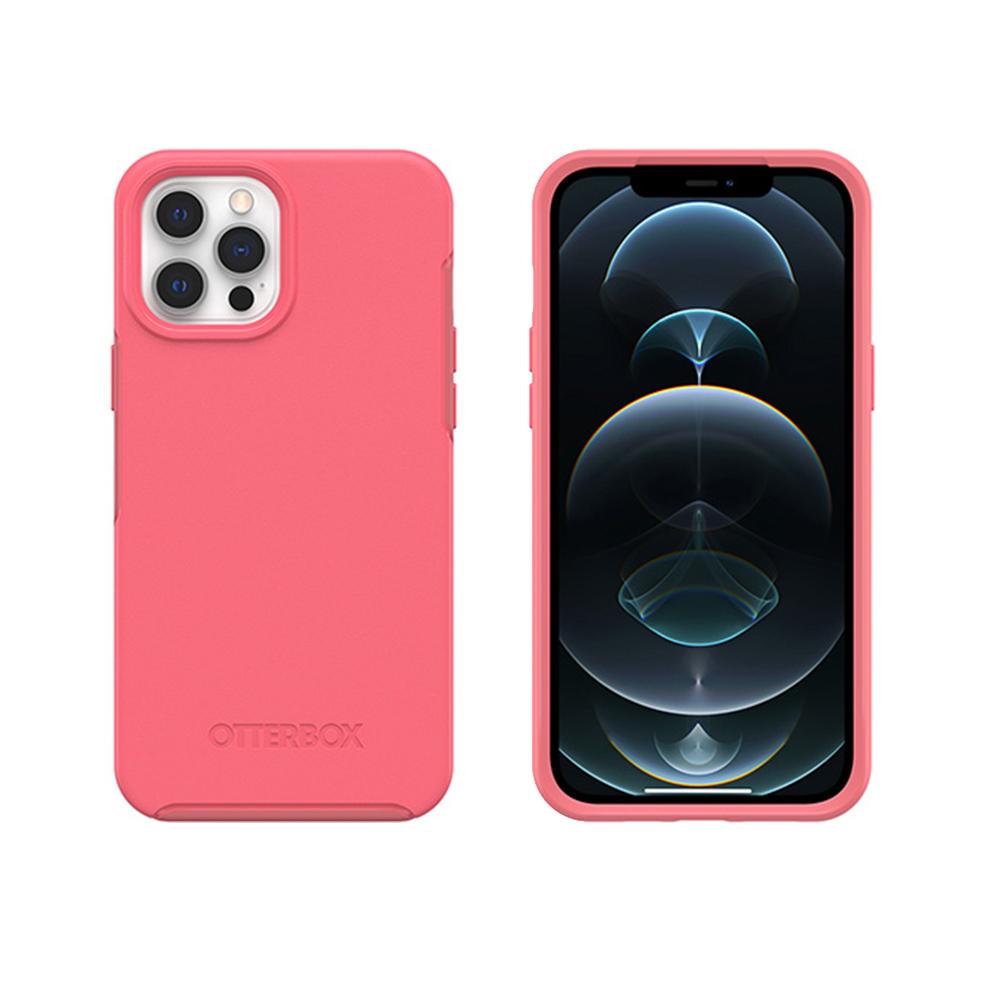 OtterBox|iPhone 12 Pro Max 6.7吋專用 防摔手機保護殼-Symmetry+炫彩系列(支援MagSafe無線快充)-粉