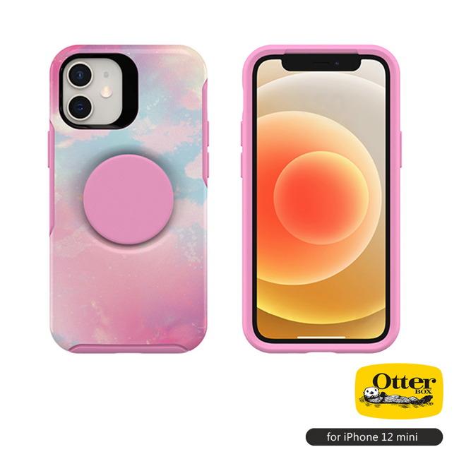 (複製)OtterBox Otter+Pop iPhone 12 mini 5.4吋專用 防摔吸震保護殼-Symmetry炫彩幾何泡泡騷系列■黑