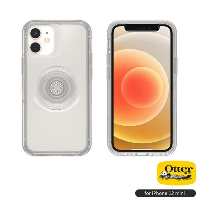 OtterBox Otter+Pop|iPhone 12 mini 5.4吋專用 防摔吸震保護殼-Symmetry炫彩幾何泡泡騷系列■透明