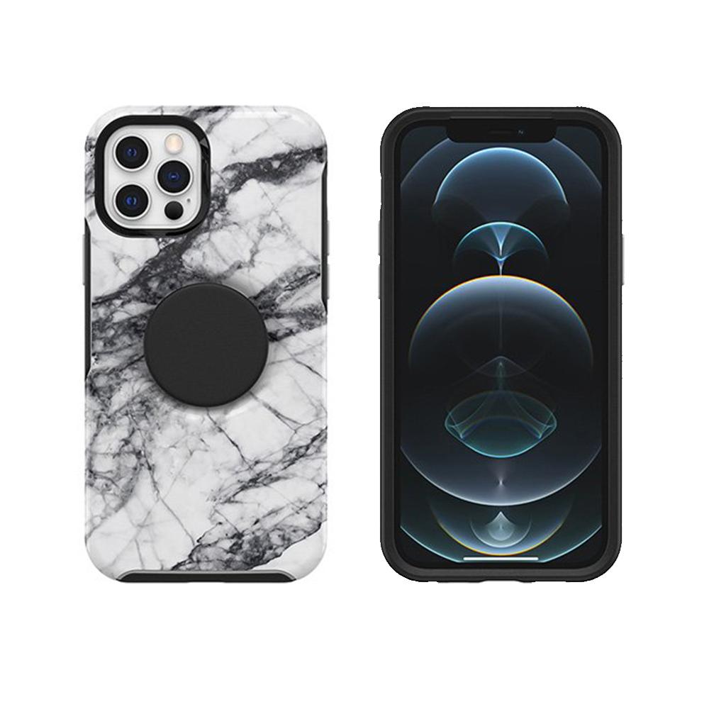 OtterBox|iPhone 12/12 Pro 6.1吋專用 Otter+Pop防摔吸震保護殼-Symmetry炫彩幾何泡泡騷系列-大理石