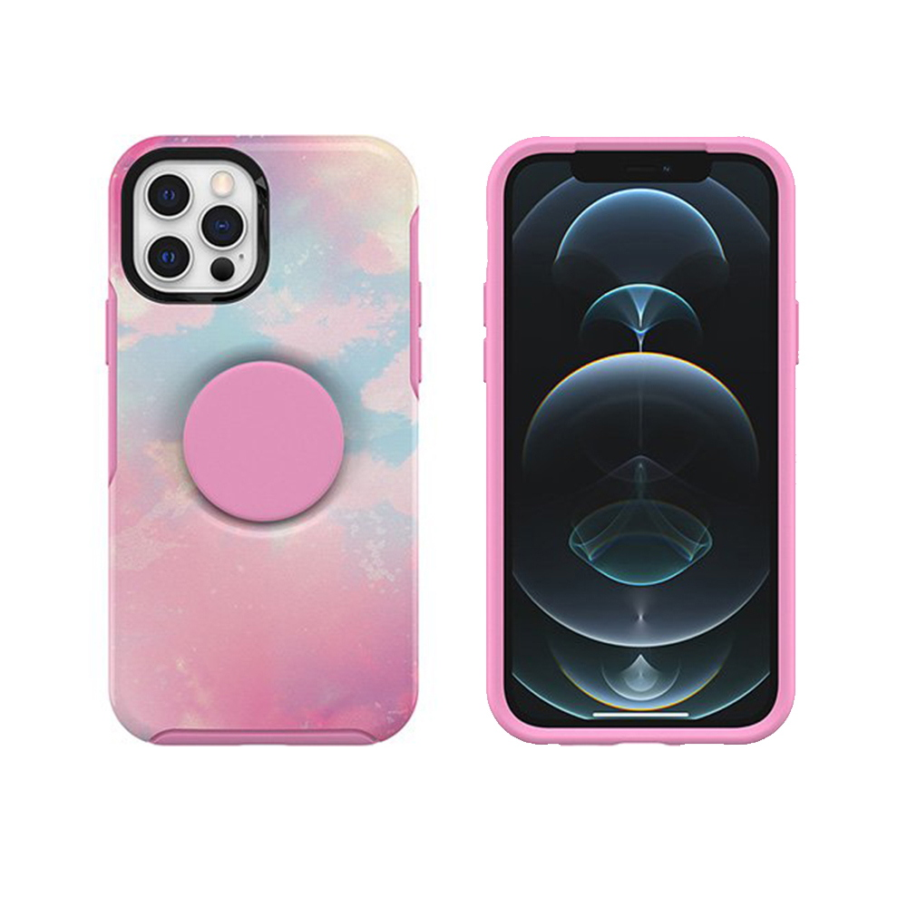 OtterBox|iPhone 12/12 Pro 6.1吋專用 Otter+Pop防摔吸震保護殼-Symmetry炫彩幾何泡泡騷系列-粉彩