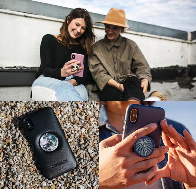 OtterBox Otter+Pop iPhone 12 mini (5.4吋)專用 防摔吸震保護殼-Symmetry炫彩幾何泡泡騷系列■黑