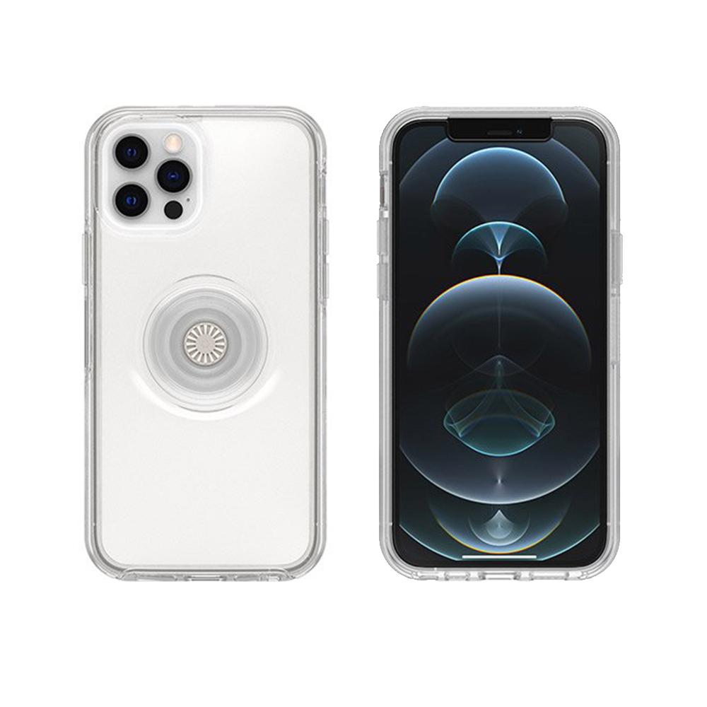 OtterBox iPhone 12/12 Pro 6.1吋專用 Otter+Pop防摔吸震保護殼-Symmetry炫彩幾何泡泡騷系列-透明