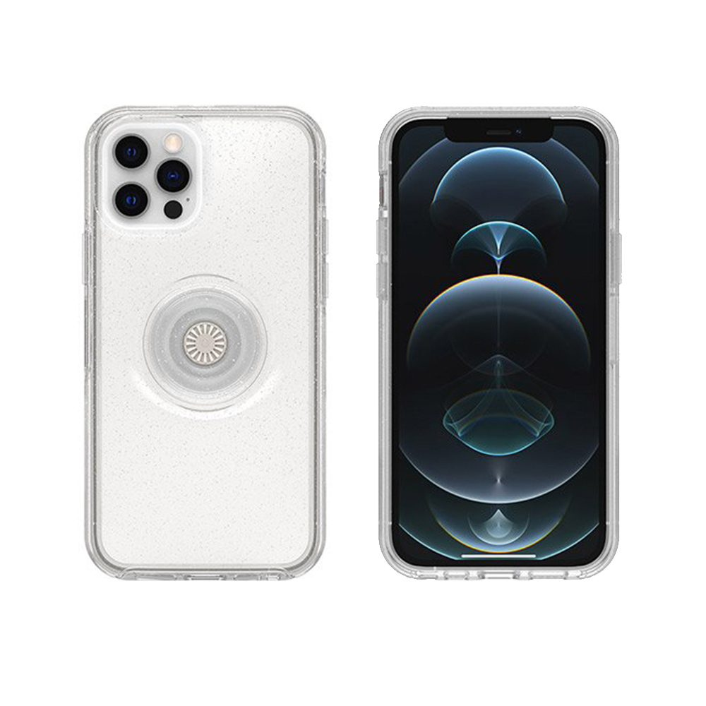 OtterBox iPhone 12/12 Pro 6.1吋專用 Otter+Pop防摔吸震保護殼-Symmetry炫彩幾何泡泡騷系列-星塵透