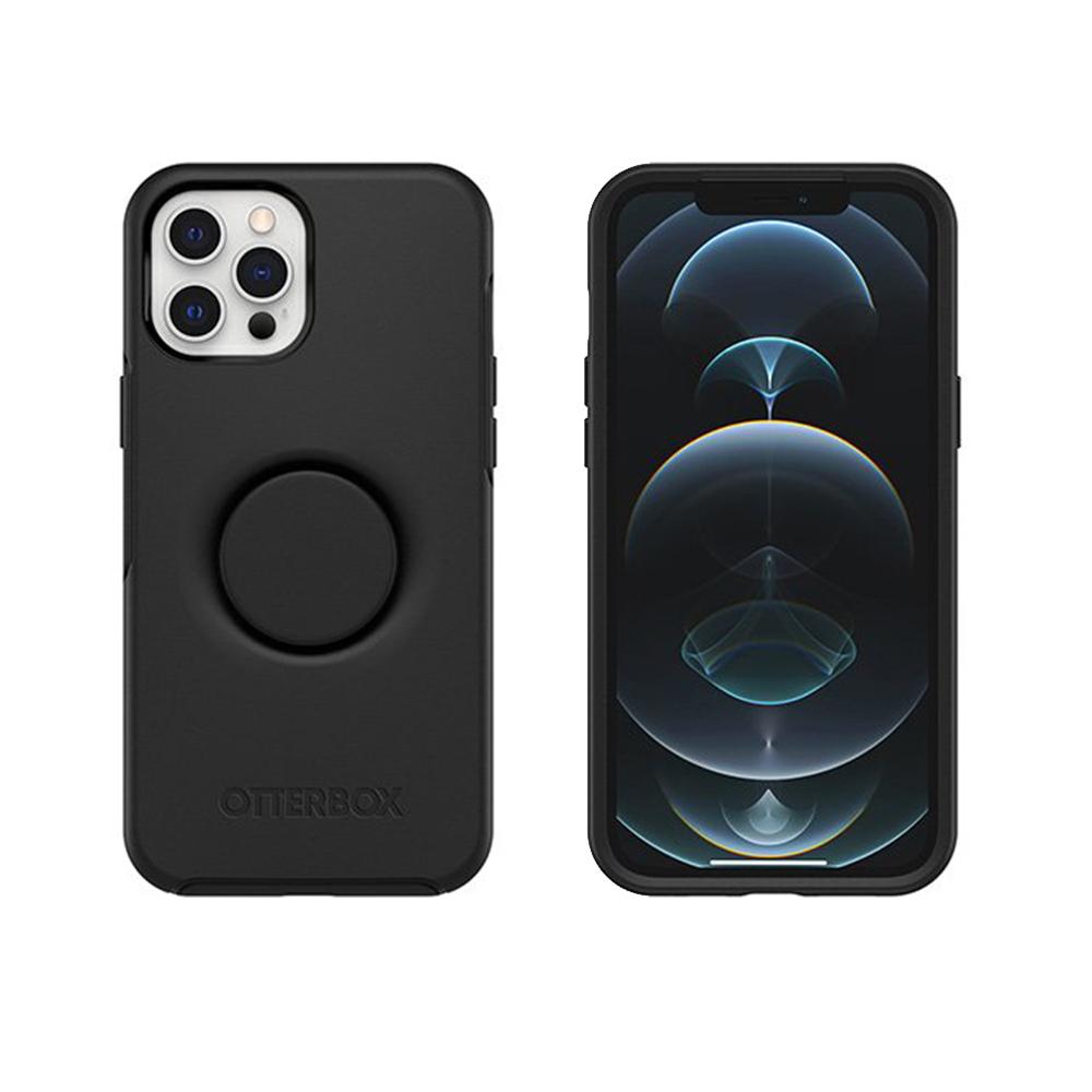 OtterBox|iPhone 12 Pro Max 6.7吋 Otter+Pop防摔吸震保護殼-Symmetry炫彩幾何泡泡騷系列-黑
