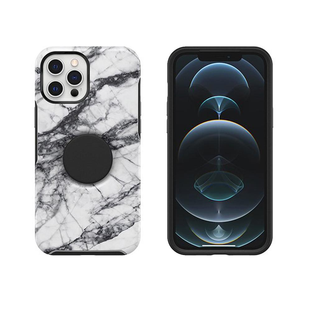 OtterBox iPhone 12 Pro Max 6.7吋 Otter+Pop防摔吸震保護殼-Symmetry炫彩幾何泡泡騷系列-大理石