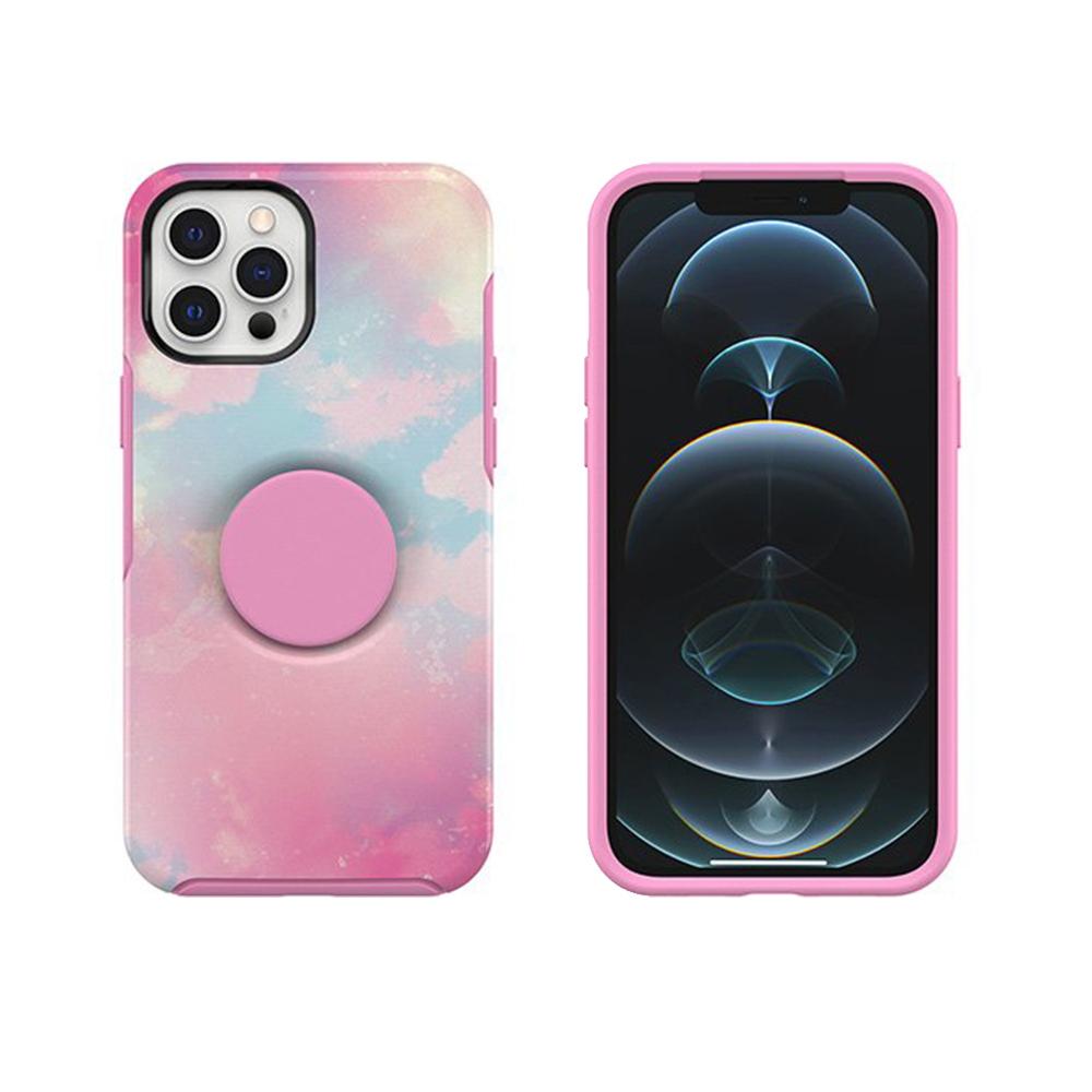 OtterBox|iPhone 12 Pro Max 6.7吋 Otter+Pop防摔吸震保護殼-Symmetry炫彩幾何泡泡騷系列-粉彩