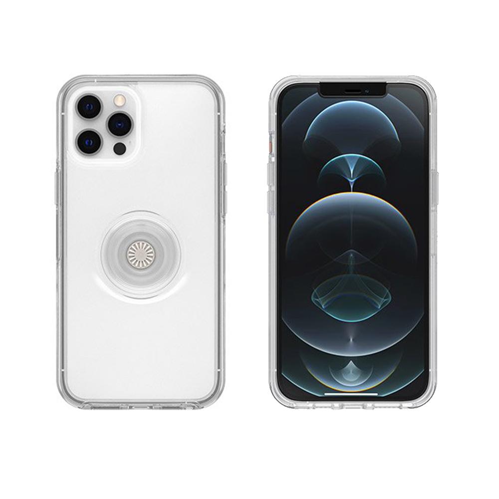 OtterBox|iPhone 12 Pro Max 6.7吋 Otter+Pop防摔吸震保護殼-Symmetry炫彩幾何泡泡騷系列-透明