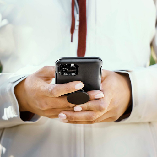 OtterBox|iPhone 12 Pro Max 6.7吋 Otter+Pop防摔吸震保護殼-Symmetry炫彩幾何泡泡騷系列-星塵透
