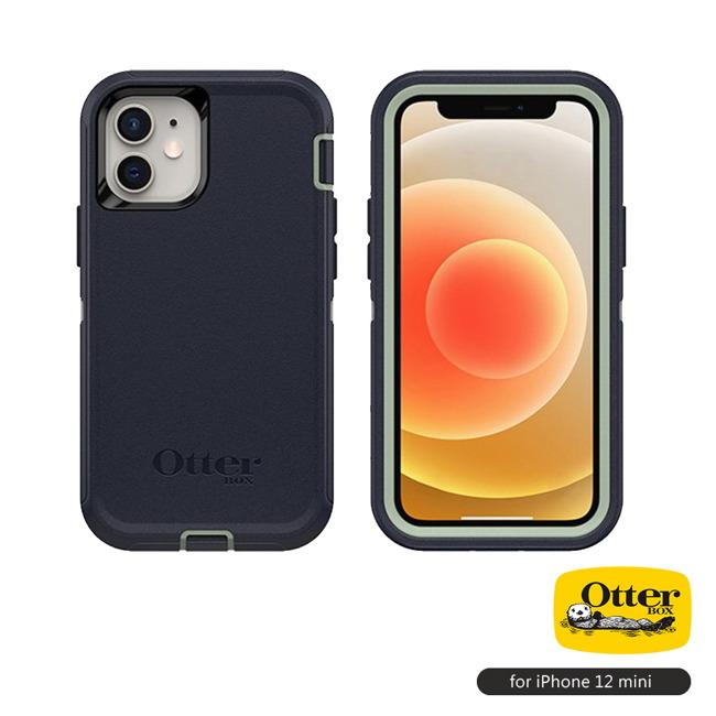OtterBox|iPhone 12 mini (5.4吋)專用 防刮防塵防摔手機保護殼-Defender防禦者系列■藍