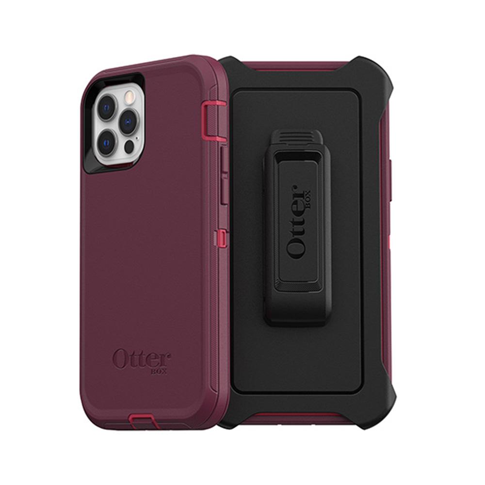 OtterBox|iPhone 12/12 Pro (6.1吋)專用 防刮防塵防摔手機保護殼-Defender防禦者系列-紫