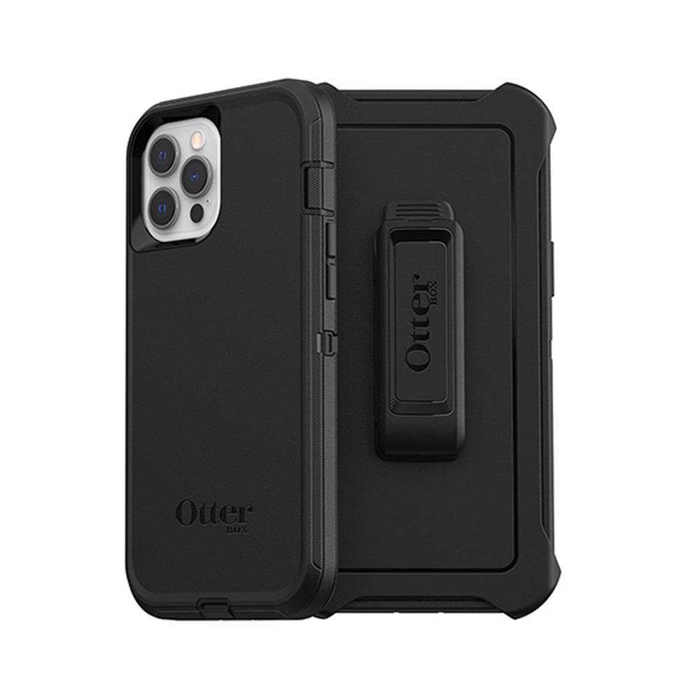 OtterBox|iPhone 12 Pro Max (6.7吋)專用 防刮防塵防摔手機保護殼-Defender防禦者系列-黑