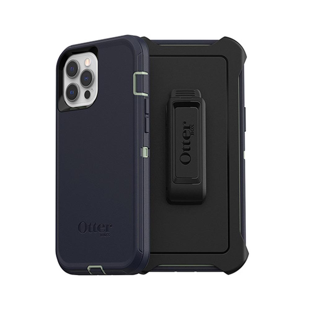 OtterBox|iPhone 12 Pro Max (6.7吋)專用 防刮防塵防摔手機保護殼-Defender防禦者系列-藍