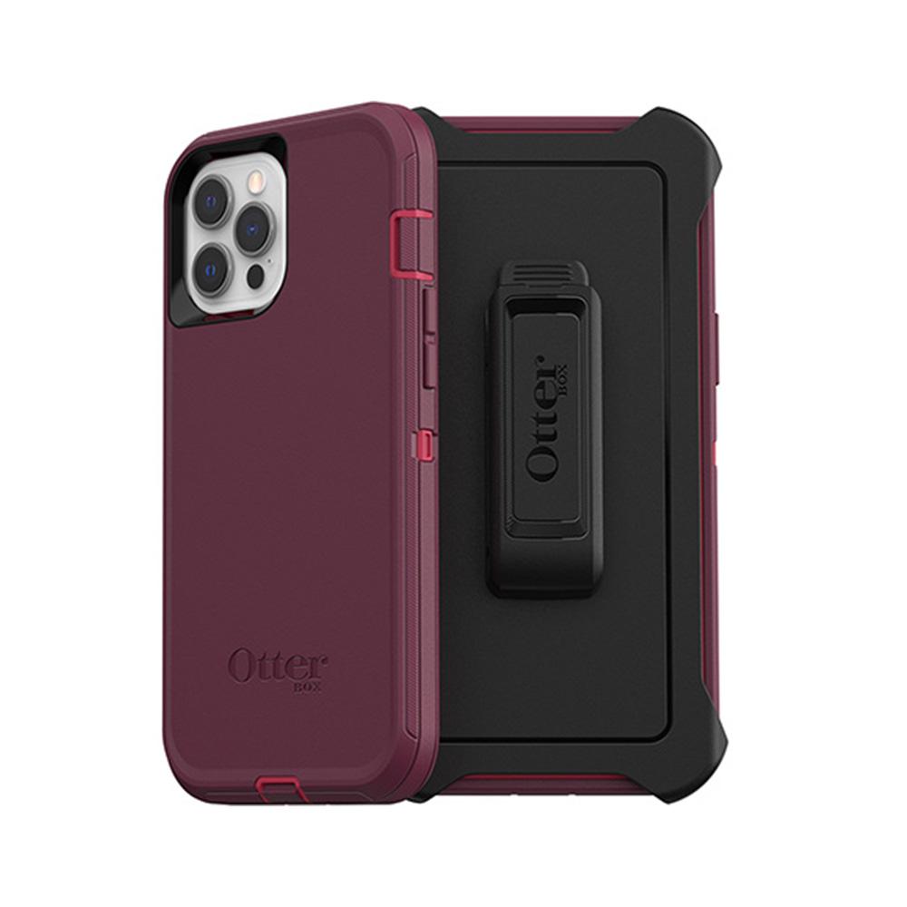 OtterBox|iPhone 12 Pro Max (6.7吋)專用 防刮防塵防摔手機保護殼-Defender防禦者系列-紫