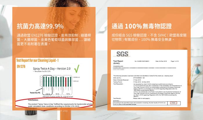 PanzerGlass|SPRAY Twice A Day 歐盟認證天然抗菌3C螢幕清潔液 -單瓶100ml
